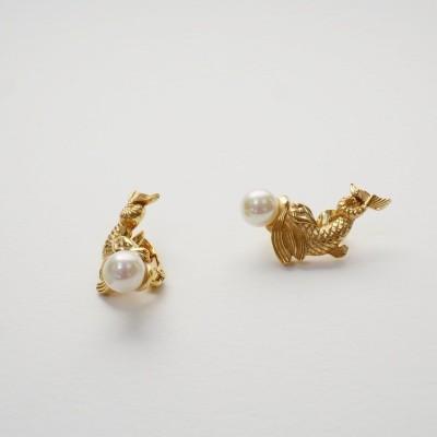 60s Dior Koi earrings