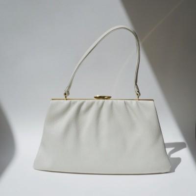 Vintage Lanca cream pleather bag