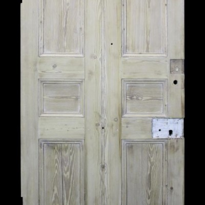 An early 19th Century stripped pine front door