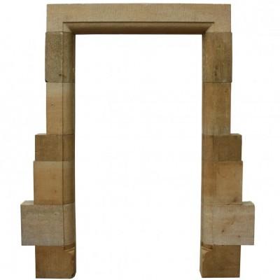 A Cotswold limestone doorway