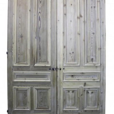 A pair of French pine double doors