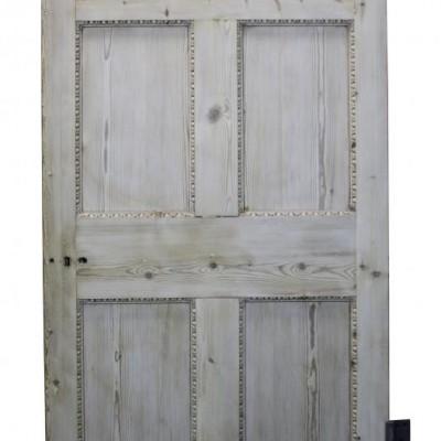 A Georgian stripped pine six panel door