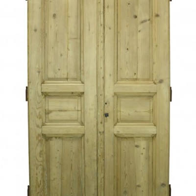 A pair of 19th C. French pine double doors
