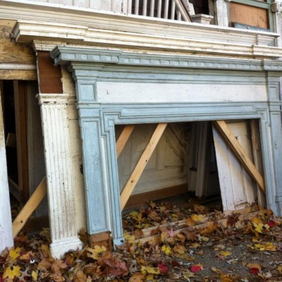 1780 Rhode Island mantels from Federal style house