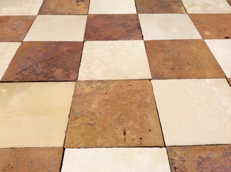 Antique Terracotta and Stone Flooring aged 18th - 19th Century