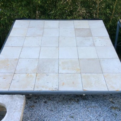 Stock  25 m2 of Antique reclaimed Limestone Flooring