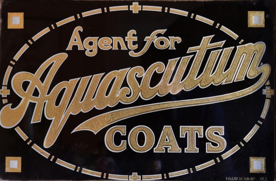 double agent for aquascutum verre eglomise sign