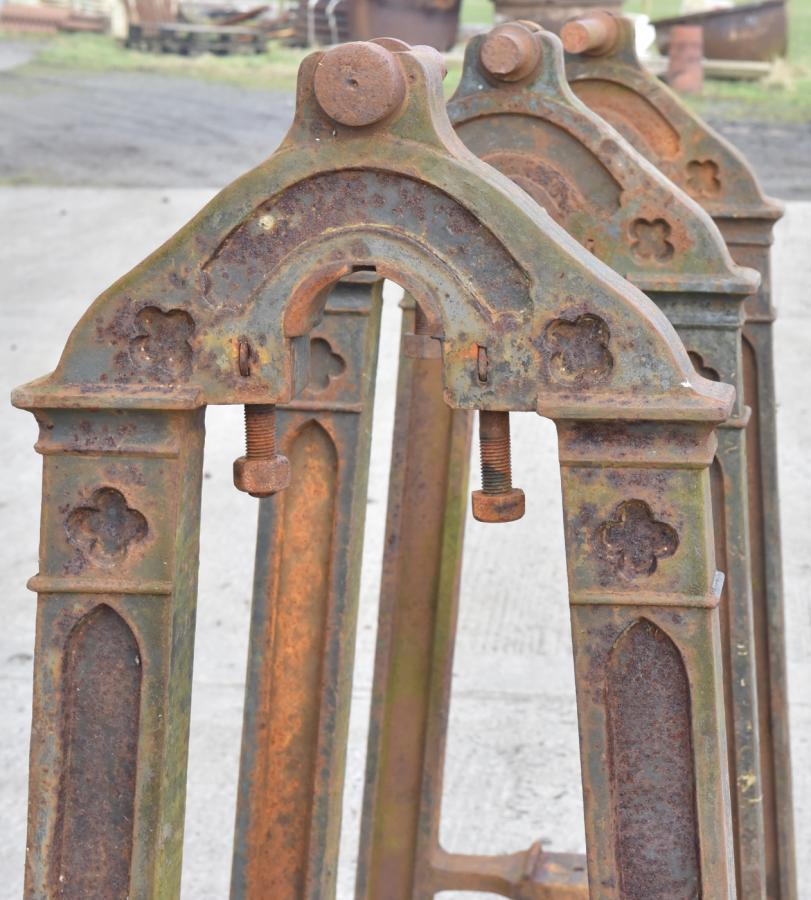 19th century gothic cast iron pump stands