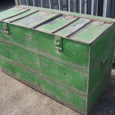 Victorian riveted flour/grain storage bin