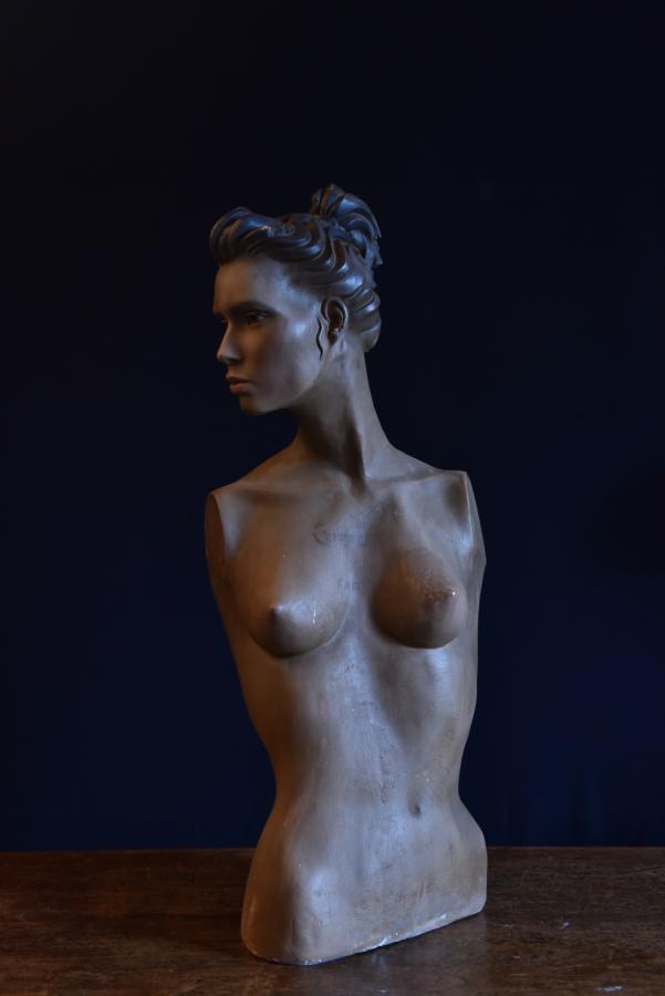 Vintage plaster bust mannequin