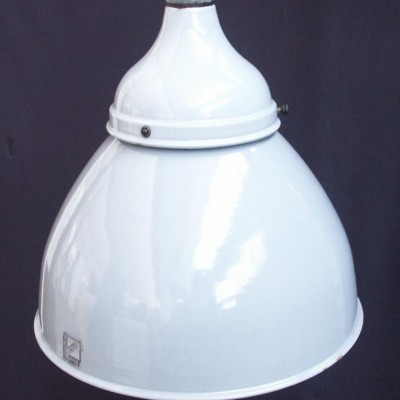 large antique grey enamel light fittings