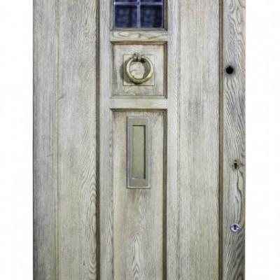An early 20th C. Oak front door