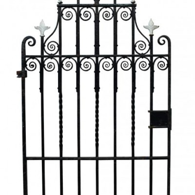 Antique wrought iron side / pedestrian gate