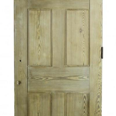 A heavy 19th C. six panel pine door