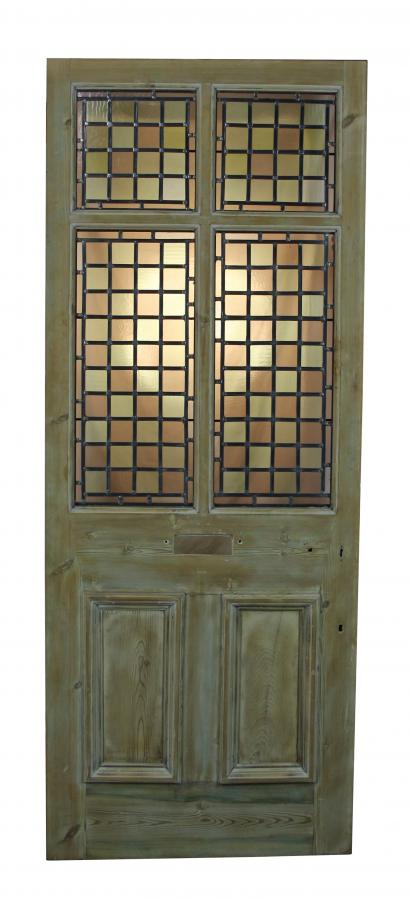 For Sale An Antique Stained Leaded Glass Front Door Salvoweb Uk