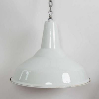 Reclaimed White Enamel Vintage Industrial Shades