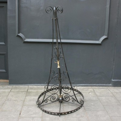 Antique Gothic Revival Wrought Iron Chandeliers