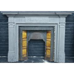 fine neoclassical cast surround + insert