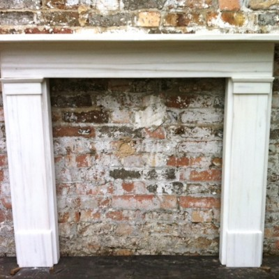 Reclaimed Pentelikon Marble Fire Surround