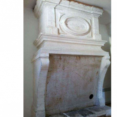 Exceptional 17th Century French Antique Stone Fireplace