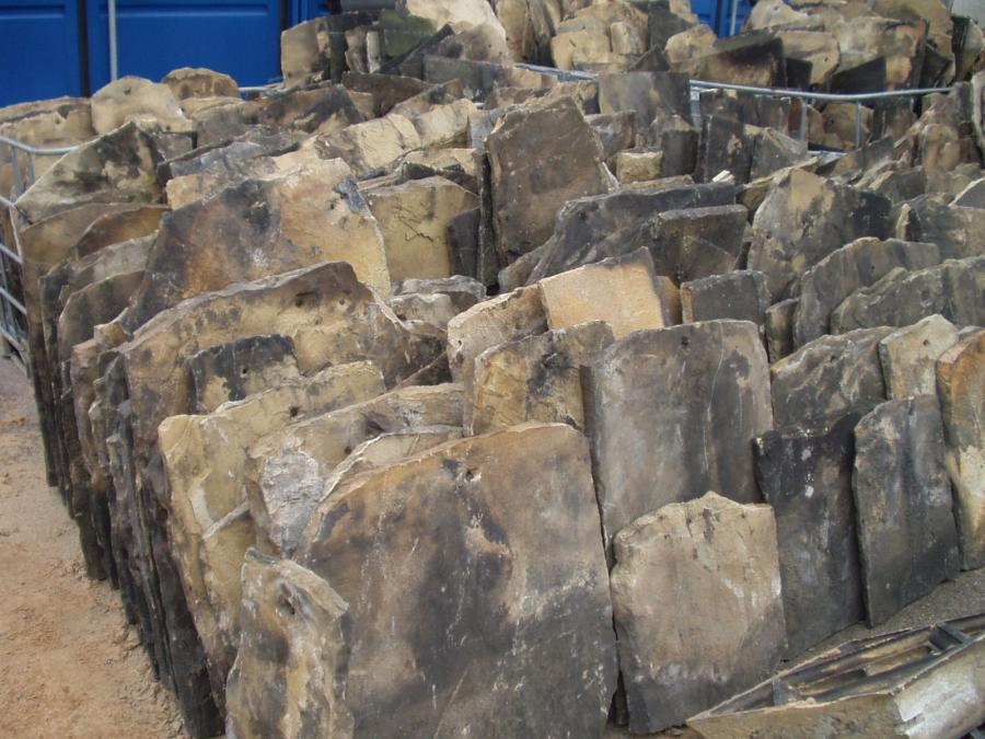 Yorkshire Stone Roof Slates - www.abacusstonesales.co.uk