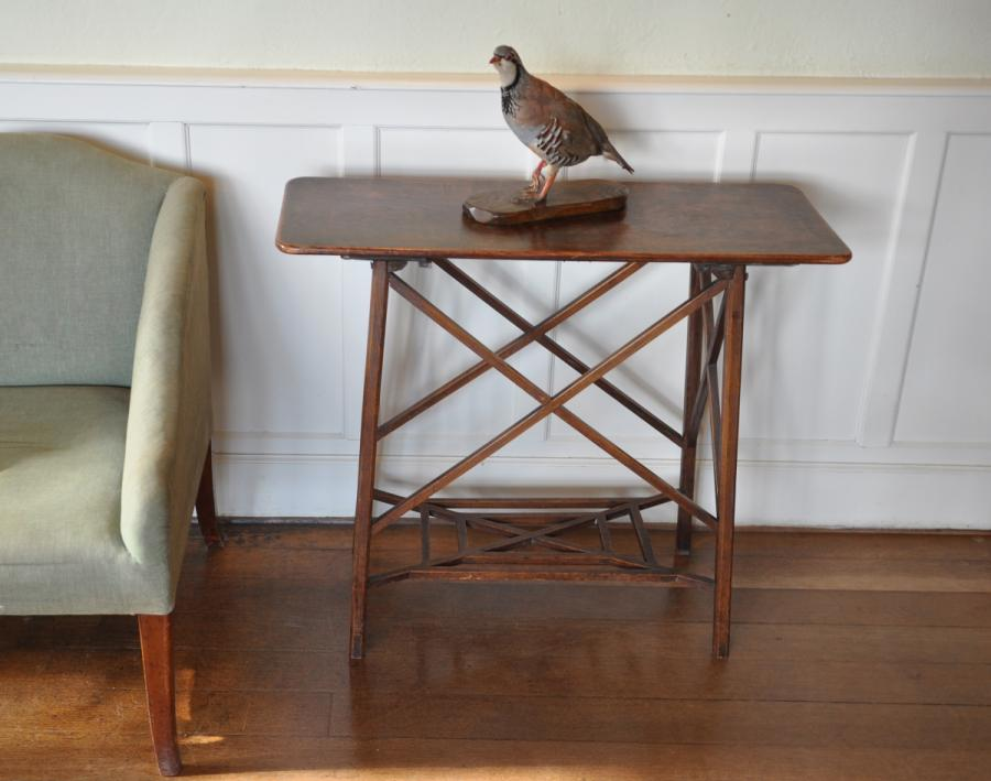 antique 19th century elm occasional side table