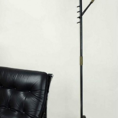 Jacques Adnet  Floor Lamp French painted iron, & brass C1950