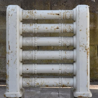 unusual antique cast iron showjumping radiator 19th century