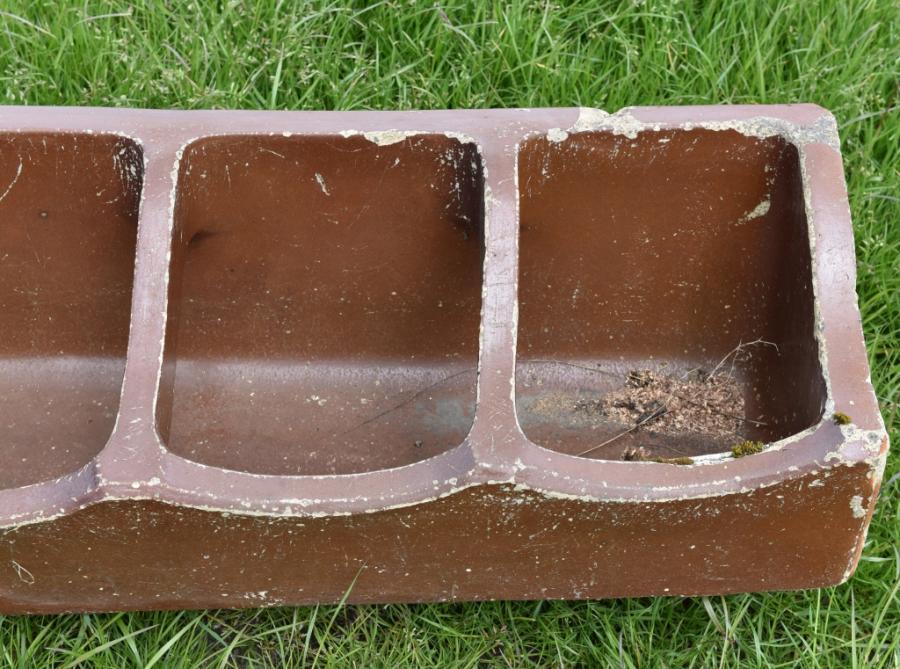 six foot antique earthenware planter trough