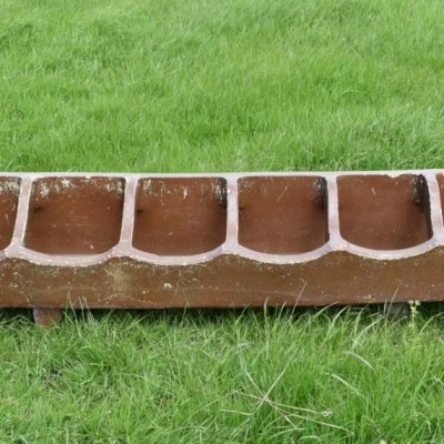 six foot antique earthenware planter trough