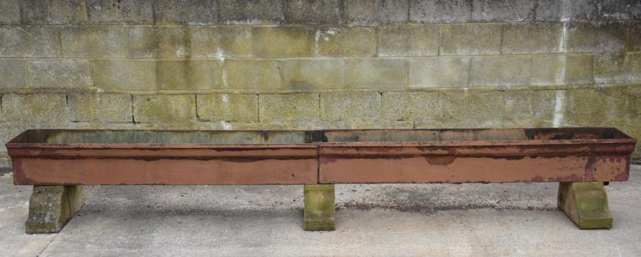 worlds longest antique trough planter