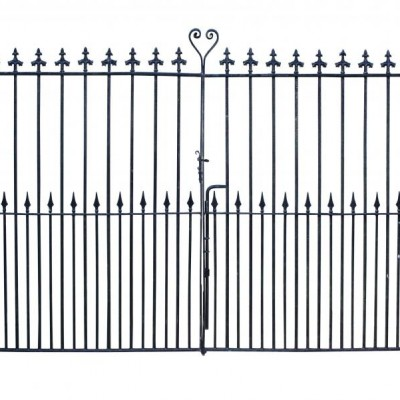 A pair of antique wrought iron entrance / driveway gates