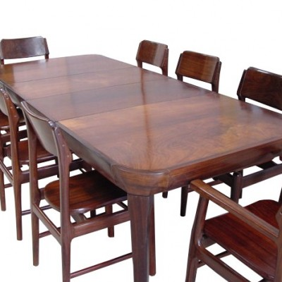 Solid Rosewood 1950-60's dining suite