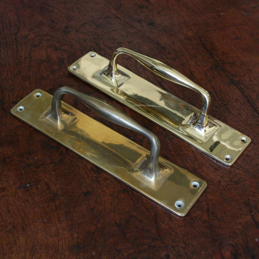 For Sale Antique Solid Brass Door Pull Salvoweb Uk