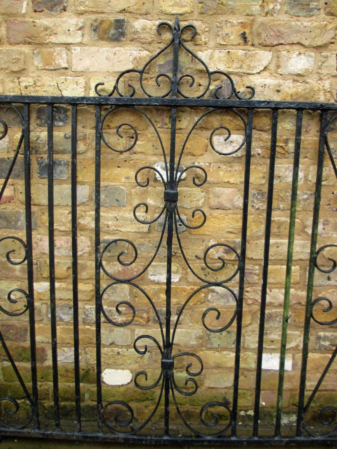 Reclaimed Wrought Iron Gate And Side Panel