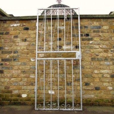 Reclaimed Grey Wrought Iron Gate