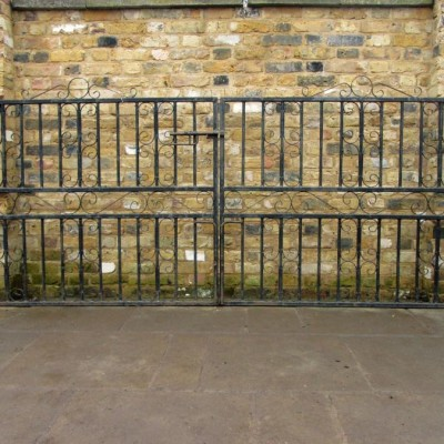 A Pair Of Imposing Reclaimed Iron Gates