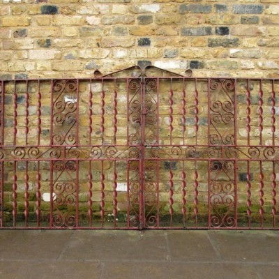 A Pair Of Reclaimed Wrought Iron Gates