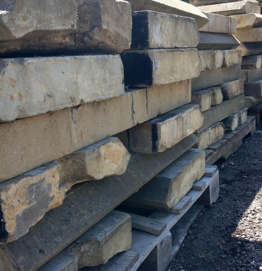 Reclaimed Angle Edge Sandstone Coping