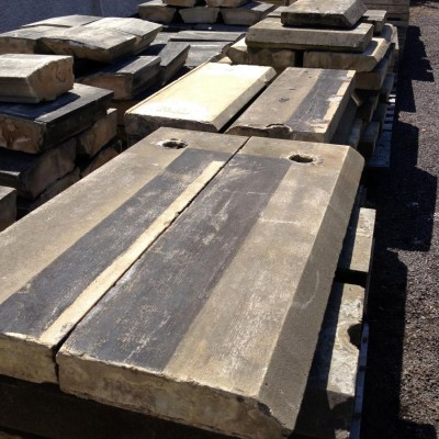 Reclaimed Angle Edge Sandstone Coping