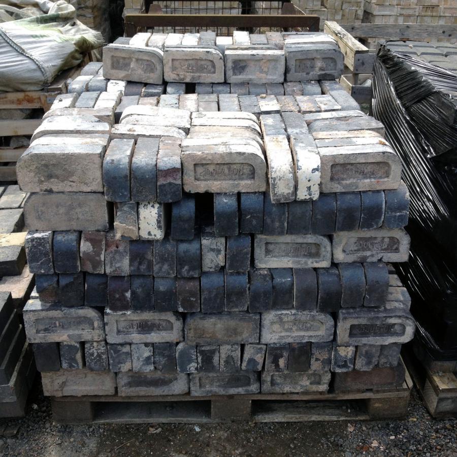 Reclaimed Staffordshire Blue Bullnose Bricks