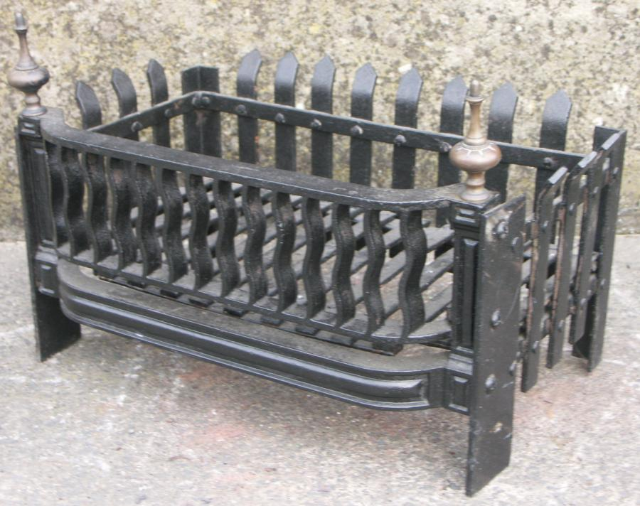 Antique fire basket grate