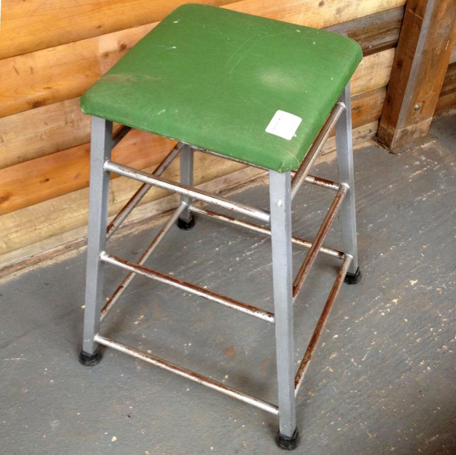 Reclaimed Vintage Gym Stool