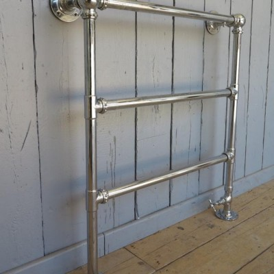 Antique Reclaimed Chrome Bathroom Towel Rail