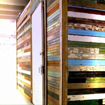 Reclaimed Beadboard Lumber Painted Mixed Colors