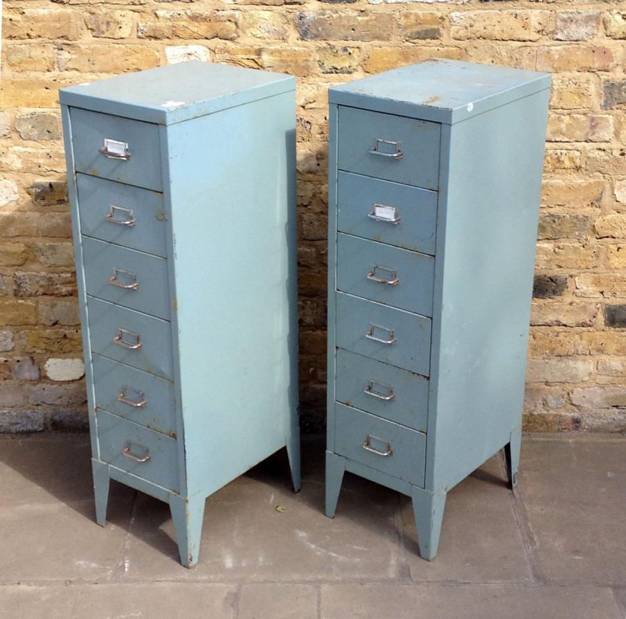 A Pair Of Reclaimed Industrial Drawers