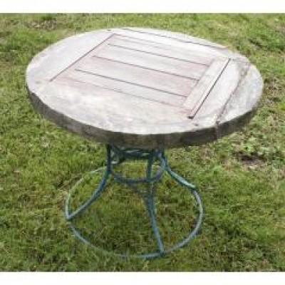 old circular wellhead table