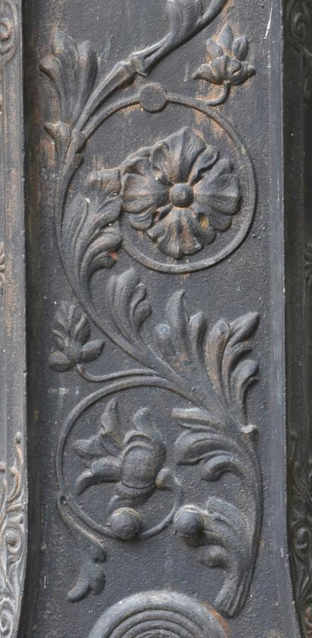exceptional antique cast iron floral radiator