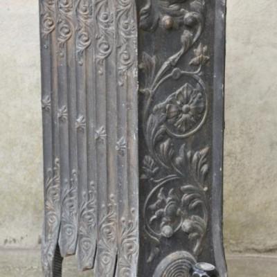 exceptional antique cast iron floral radiator
