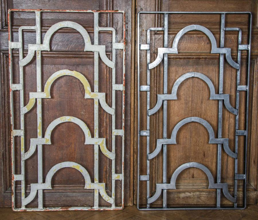 Exceptional Antique Art Deco Cast Iron Grills